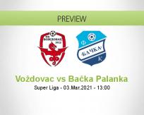 Voždovac Bačka Palanka betting prediction (03 March 2021)