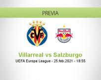 Pronóstico Villarreal Salzburgo (25 febrero 2021)