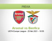 Pronóstico Arsenal Benfica (25 febrero 2021)