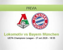 Pronóstico Lokomotiv Moskva Bayern München (27 octubre 2020)