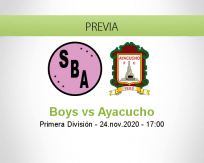 Pronóstico Boys Ayacucho (24 noviembre 2020)