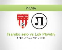 Pronóstico Tsarsko selo Lok Plovdiv (17 septiembre 2021)