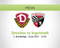 Pronóstico Dresden Ingolstadt (24 julio 2021)