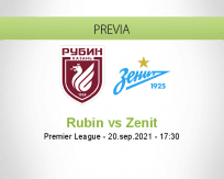 Pronóstico Rubin Zenit (20 septiembre 2021)