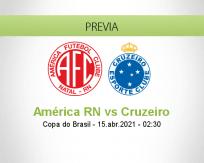 Pronóstico América RN Cruzeiro (14 abril 2021)