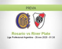 Pronóstico Rosario River Plate (28 noviembre 2020)