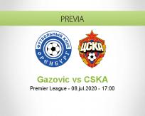 Pronóstico Gazovik Oremburgo CSKA Moscú (08 julio 2020)