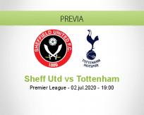 Pronóstico Sheffield United Tottenham Hotspur (02 julio 2020)