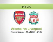 Pronóstico Arsenal Liverpool (15 julio 2020)