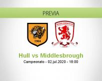Pronóstico Hull City Middlesbrough (02 julio 2020)