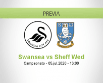 Pronóstico Swansea City Sheffield Wednesday (05 julio 2020)