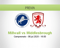 Pronóstico Millwall Middlesbrough (08 julio 2020)