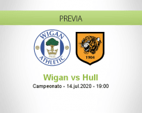 Pronóstico Wigan Athletic Hull City (14 julio 2020)