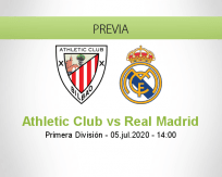 Pronóstico Athletic Club Real Madrid (05 julio 2020)