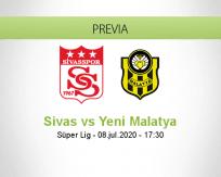 Pronóstico Sivasspor Yeni Malatyaspor (08 julio 2020)