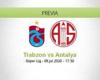 Pronóstico Trabzonspor Antalyaspor (08 julio 2020)