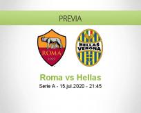 Pronóstico Roma Hellas Verona (15 julio 2020)