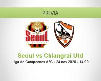 Pronóstico Seoul Chiangrai Utd (24 noviembre 2020)