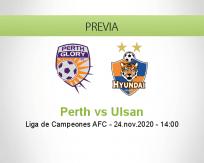 Pronóstico Perth Ulsan (24 noviembre 2020)