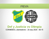 Defensa y Justicia vs Olimpia