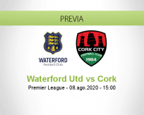 Pronóstico Waterford United Cork City (08 agosto 2020)