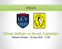 Pronóstico César Vallejo Academia Cantolao (25 septiembre 2020)