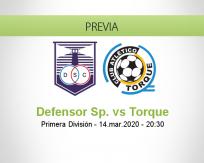 Defensor Sporting vs Torque