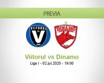 Pronóstico Viitorul Dinamo Bucureşti (02 julio 2020)
