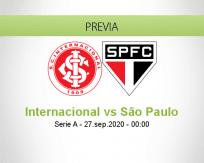 Pronóstico Internacional São Paulo (26 septiembre 2020)