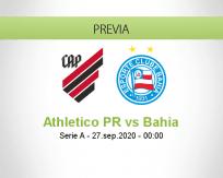 Pronóstico Athletico Paranaense Bahia (26 septiembre 2020)