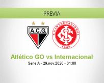 Pronóstico Atlético GO Internacional (28 noviembre 2020)