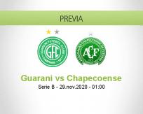 Pronóstico Guarani Chapecoense (28 noviembre 2020)
