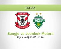 Pronóstico Sangju Sangmu Jeonbuk Motors (05 julio 2020)