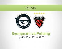Pronóstico Seongnam Pohang Steelers (05 julio 2020)