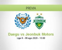 Pronóstico Daegu Jeonbuk Motors (08 agosto 2020)