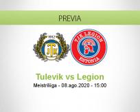 Pronóstico Tulevik Legion (08 agosto 2020)