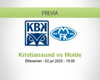 Pronóstico Kristiansund BK Molde FK (02 julio 2020)