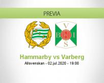 Pronóstico Hammarby Varberg (02 julio 2020)
