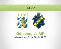 Pronóstico IFK Göteborg AIK Solna (02 julio 2020)