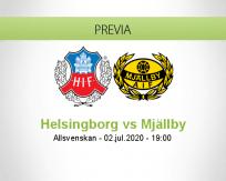 Pronóstico Helsingborgs Mjällby (02 julio 2020)