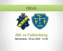 Pronóstico AIK Solna Falkenbergs (05 julio 2020)