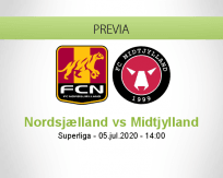 Pronóstico Nordsjælland Midtjylland (05 julio 2020)