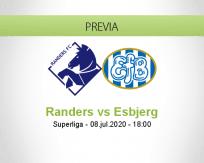 Pronóstico Randers Esbjerg fB (08 julio 2020)