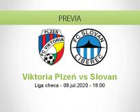 Pronóstico Viktoria Plzeň Slovan Liberec (08 julio 2020)