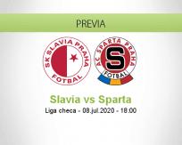 Pronóstico Slavia Praha Sparta Praha (08 julio 2020)