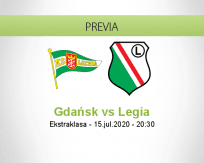 Pronóstico Lechia Gdańsk KP Legia Varsovia (15 julio 2020)