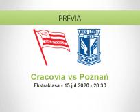Pronóstico Cracovia Lech Poznań (15 julio 2020)