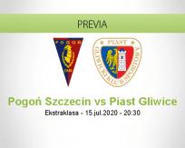 Pronóstico Pogoń Szczecin Piast Gliwice (15 julio 2020)