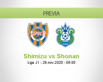 Pronóstico Shimizu Shonan (28 noviembre 2020)