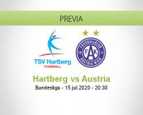 Pronóstico Hartberg Austria Viena (15 julio 2020)